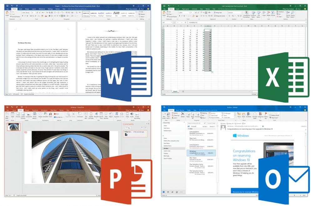 Состав Microsoft Office 2016
