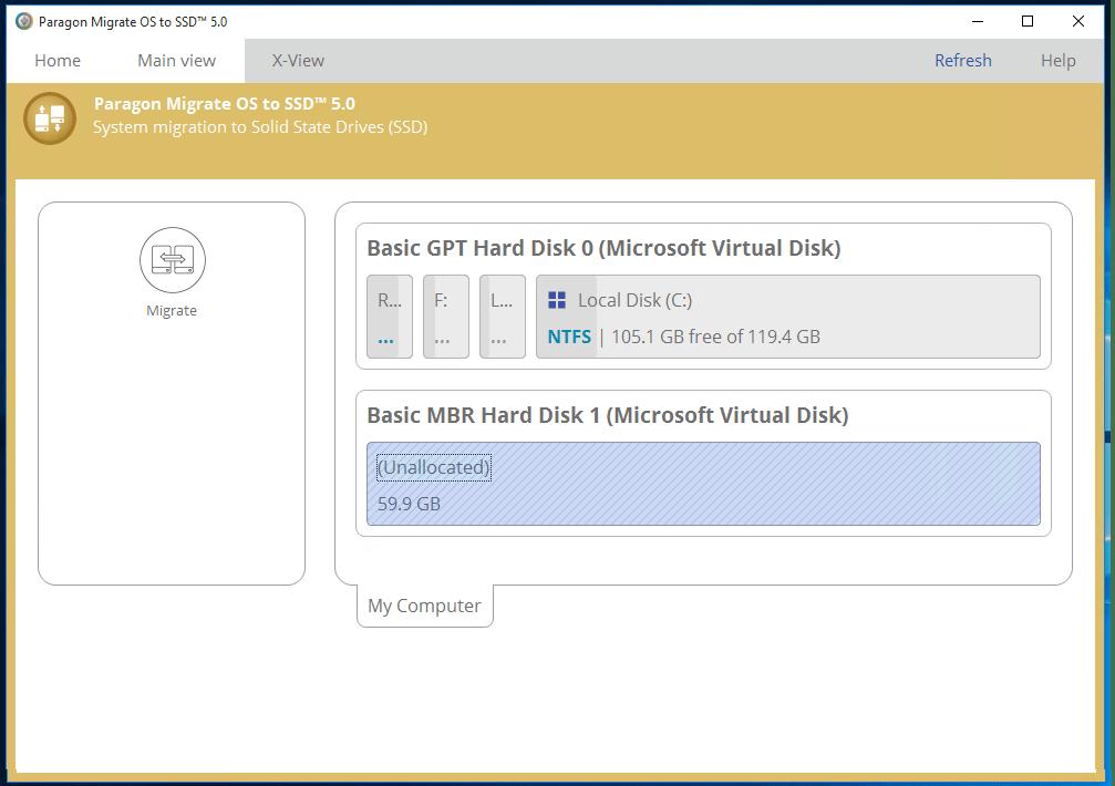Управление SSD на компьютере при помощи Paragon Migrate OS to SSD