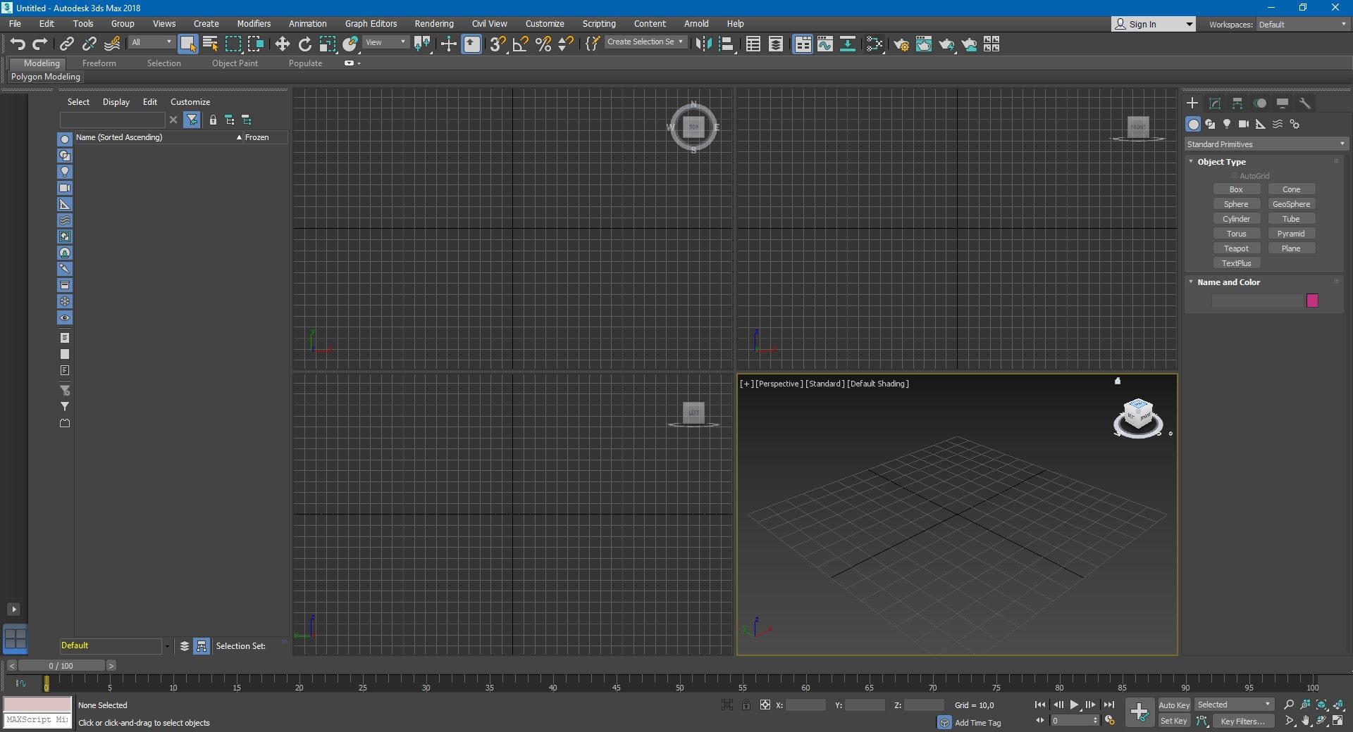 Создание проекта в программе 3Ds Max 2019
